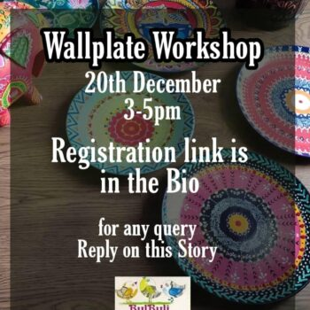 """Join the year's last """" ONLINE WALL PLATE PAINTING WORKSHOP"""" happening on 20th De..."""